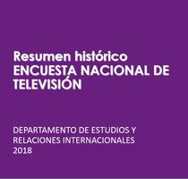 Imagen Resumen Historico Encuesta Nacional de Televisión