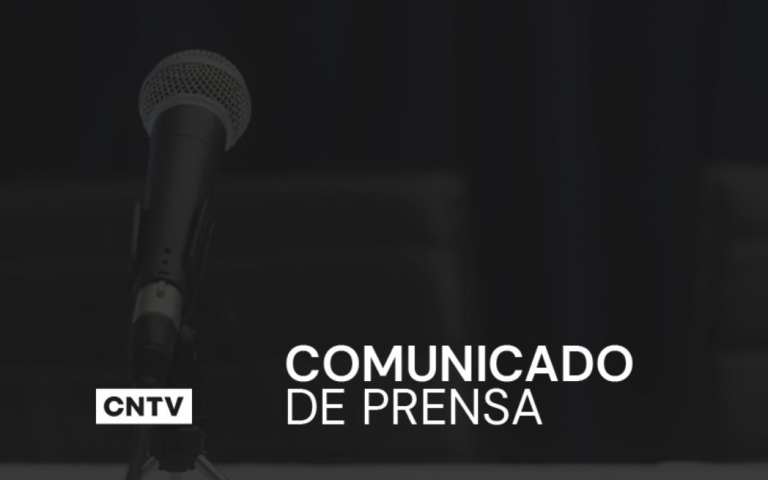 """Comunicado ante la emergencia: CNTV recuerda las """"buenas práticas"""" a los medios televisivos"""